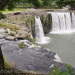 南東側から見た原尻の滝