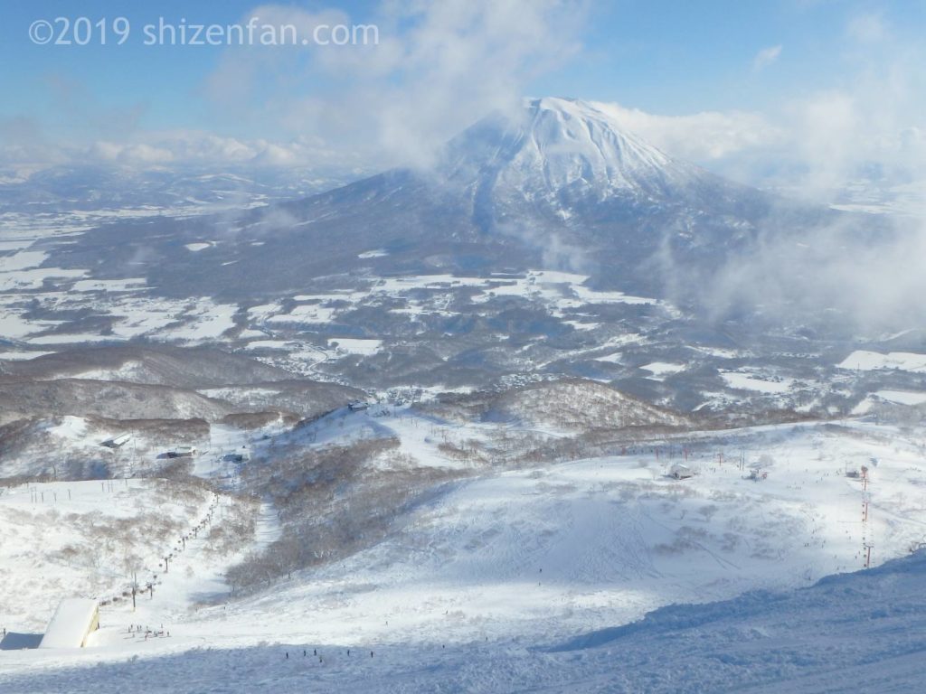 ニセコグランヒラフスキー場から見た羊蹄山2016年撮影