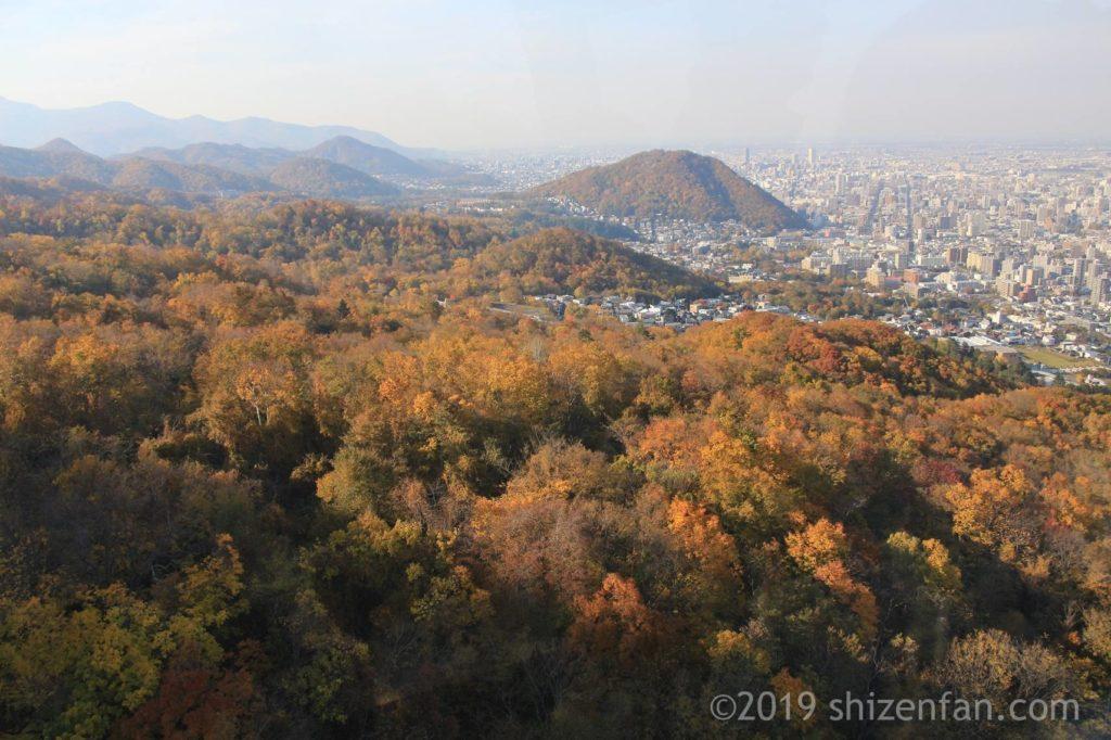 10月中旬の札幌藻岩山ロープウェイからの景色