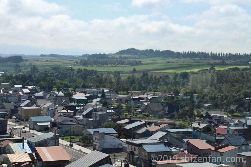 美瑛四季の塔から見える丘のアップ