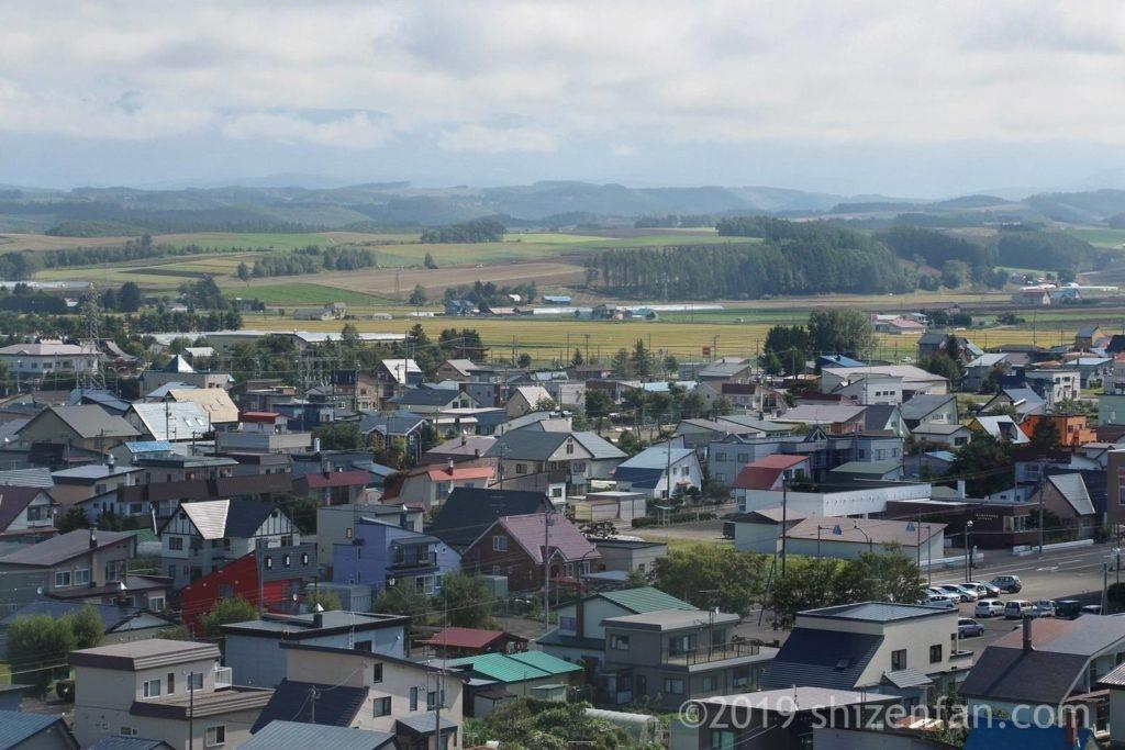 美瑛四季の塔から見える畑の風景のアップ