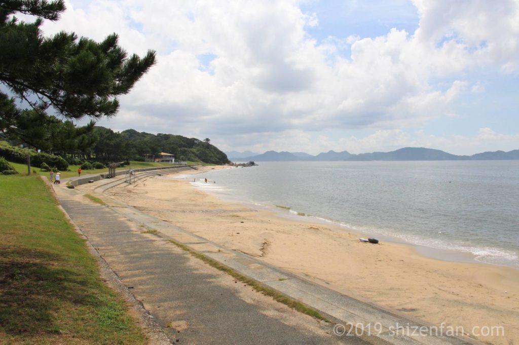 志賀島下馬ヶ浜海水浴場のビーチ全景