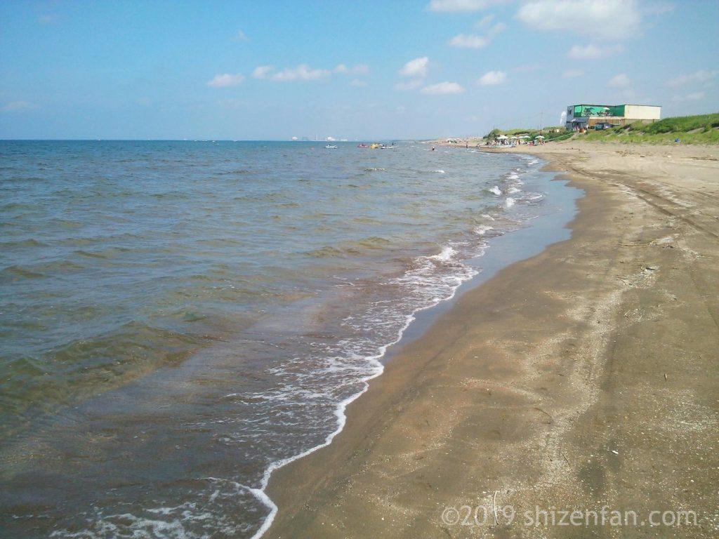 8月20日の小樽銭函のビーチ