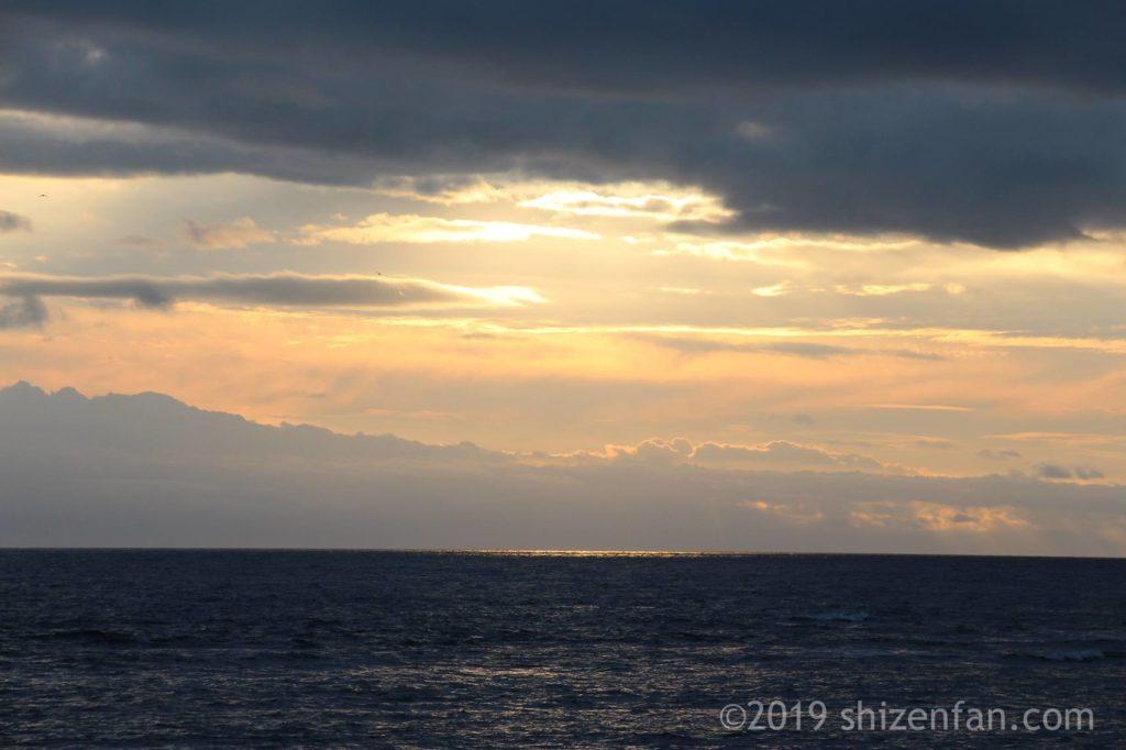 稚内のノシャップ岬から見る夕焼け