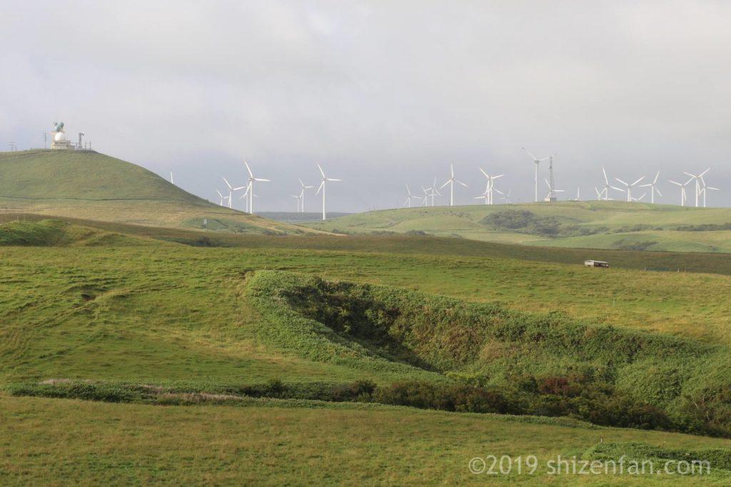 宗谷丘陵と風力発電施設