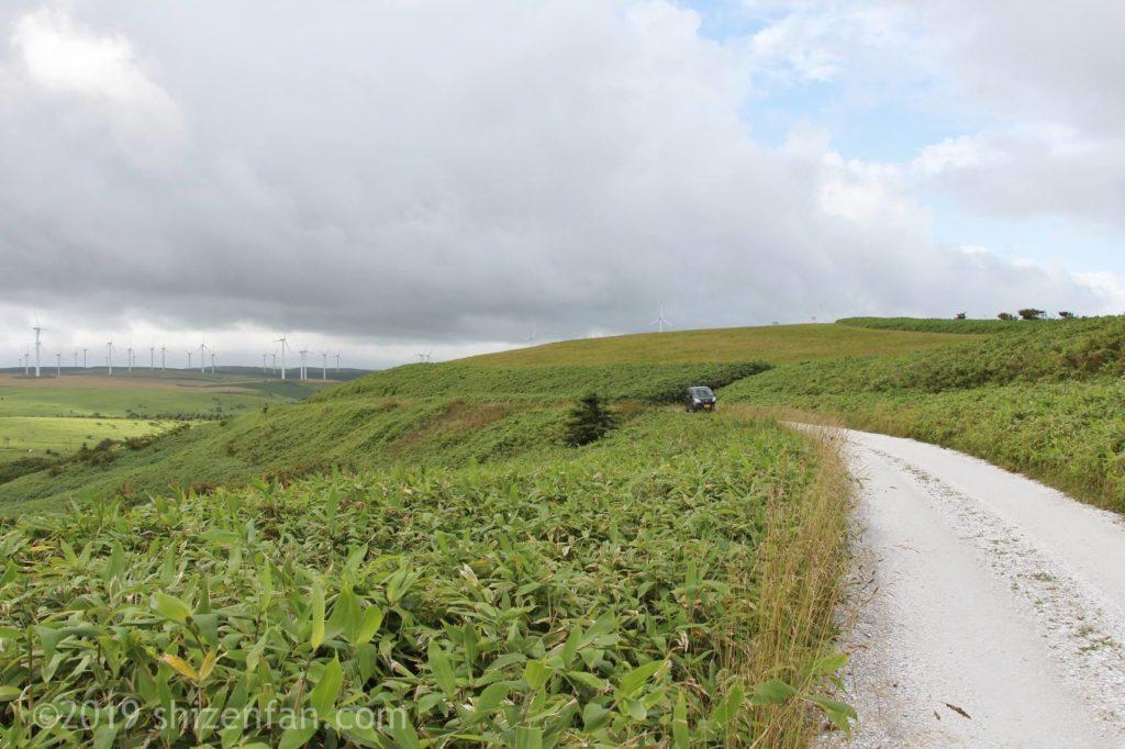 宗谷丘陵と白い道