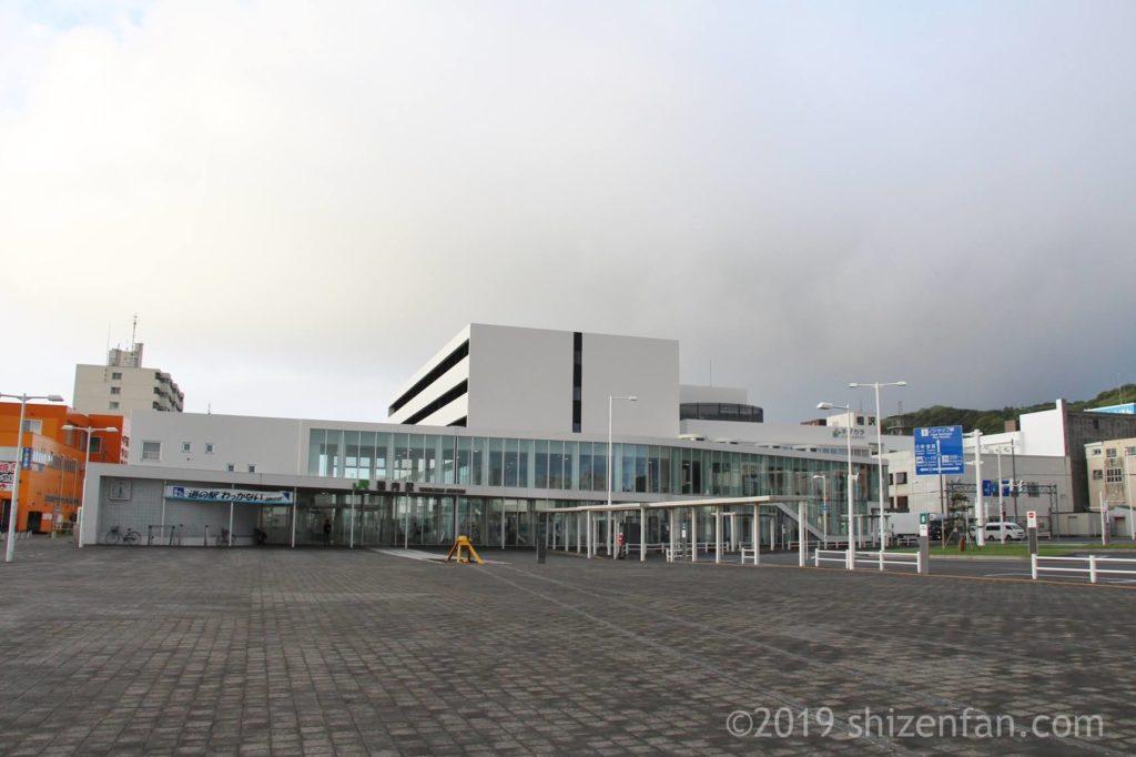 稚内のキタカラ、稚内駅、道の駅わっかない外観