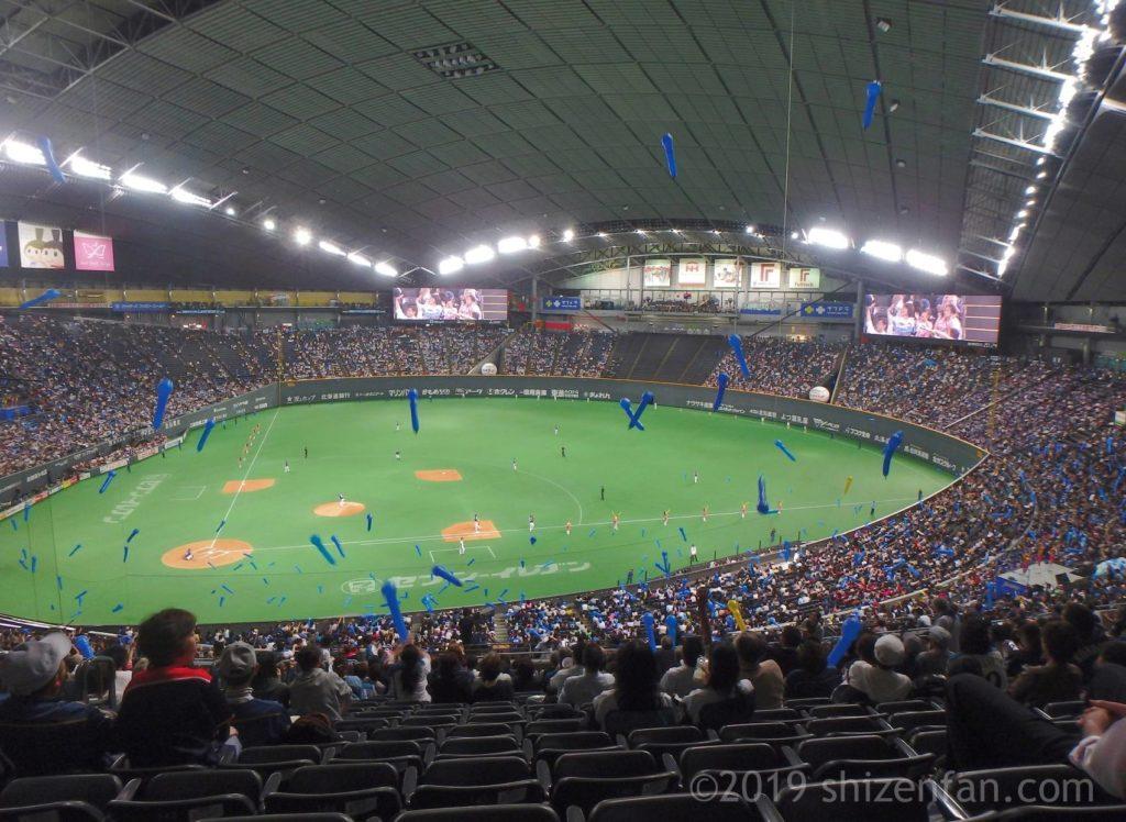札幌ドーム内の様子全景、2018年交流戦