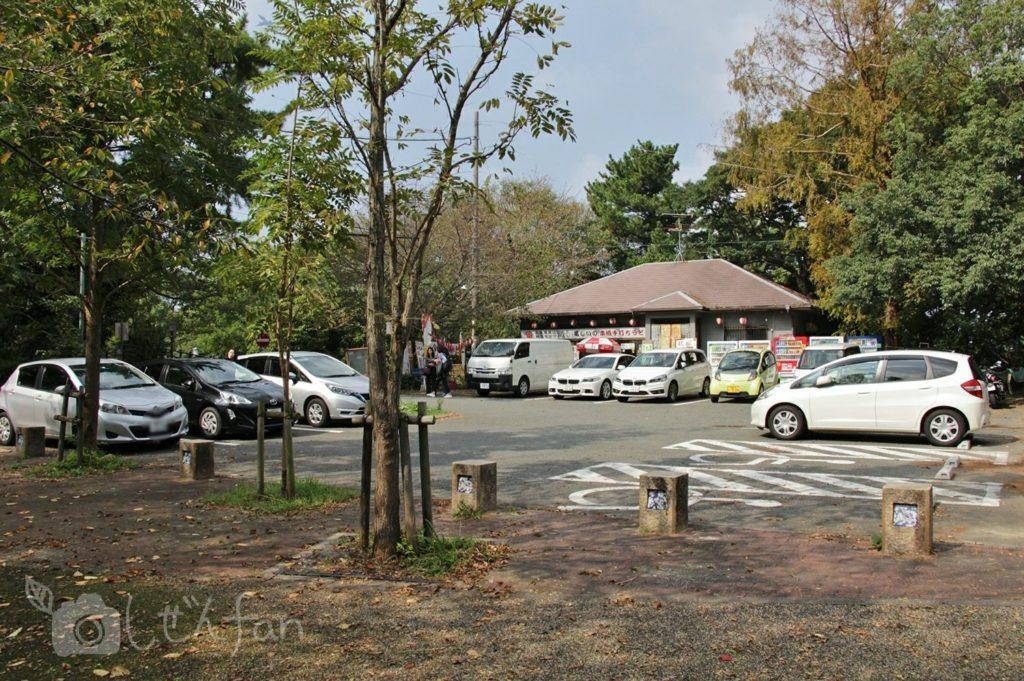 福岡西公園 中央駐車場の様子