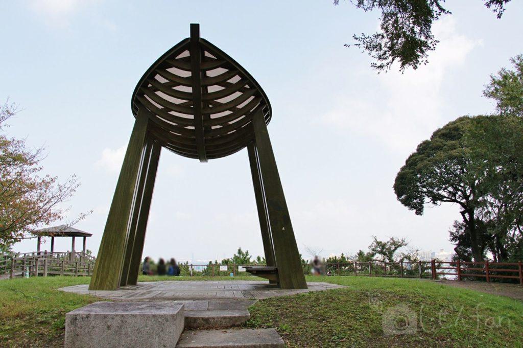 福岡西公園 中央展望広場の様子