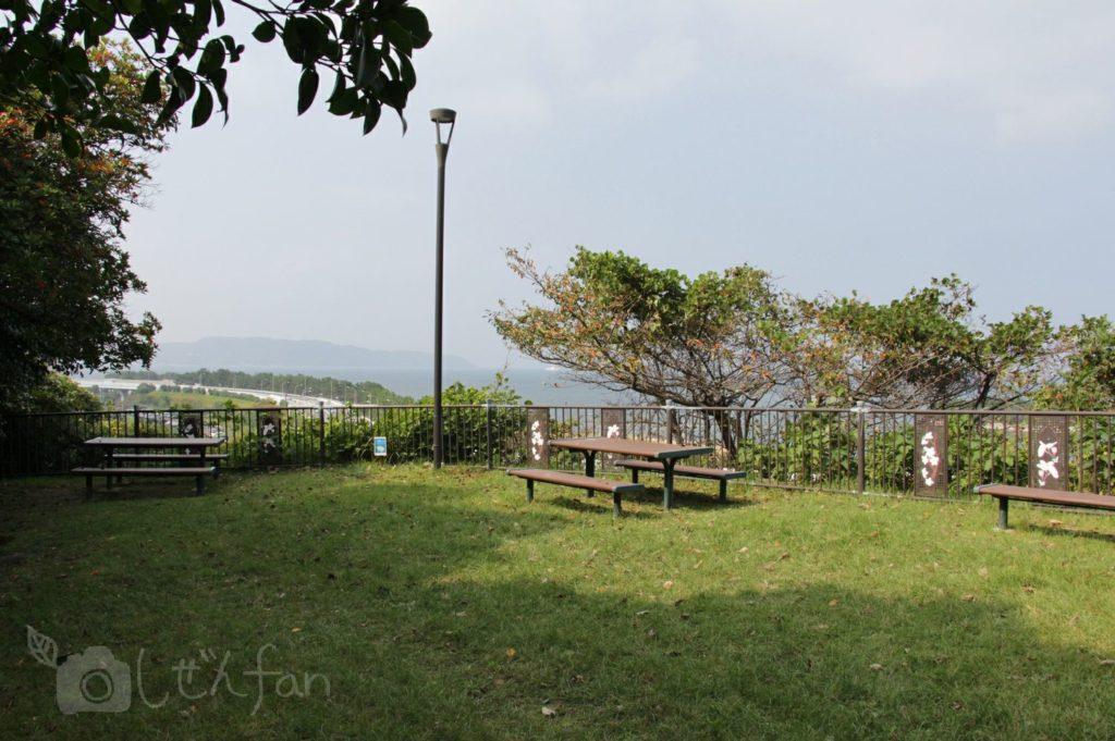 福岡西公園 西側展望広場の様子