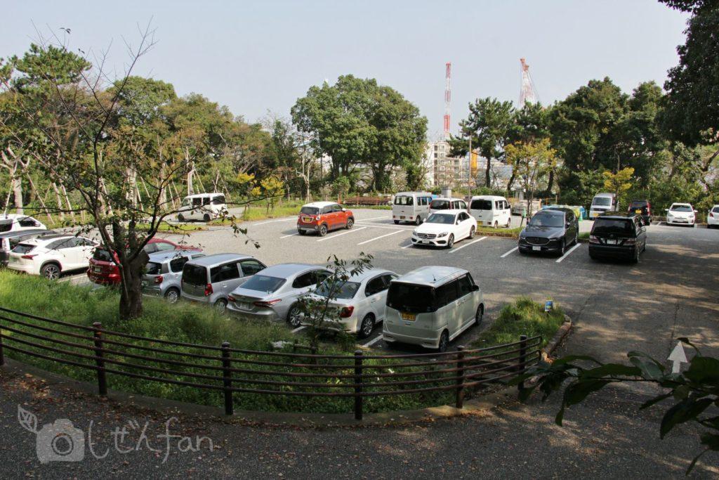 福岡西公園 東側駐車場の様子