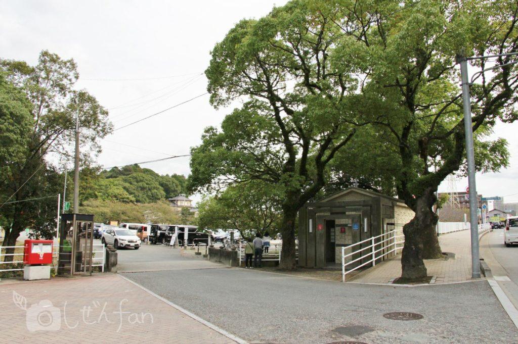 香椎宮駐車場入口