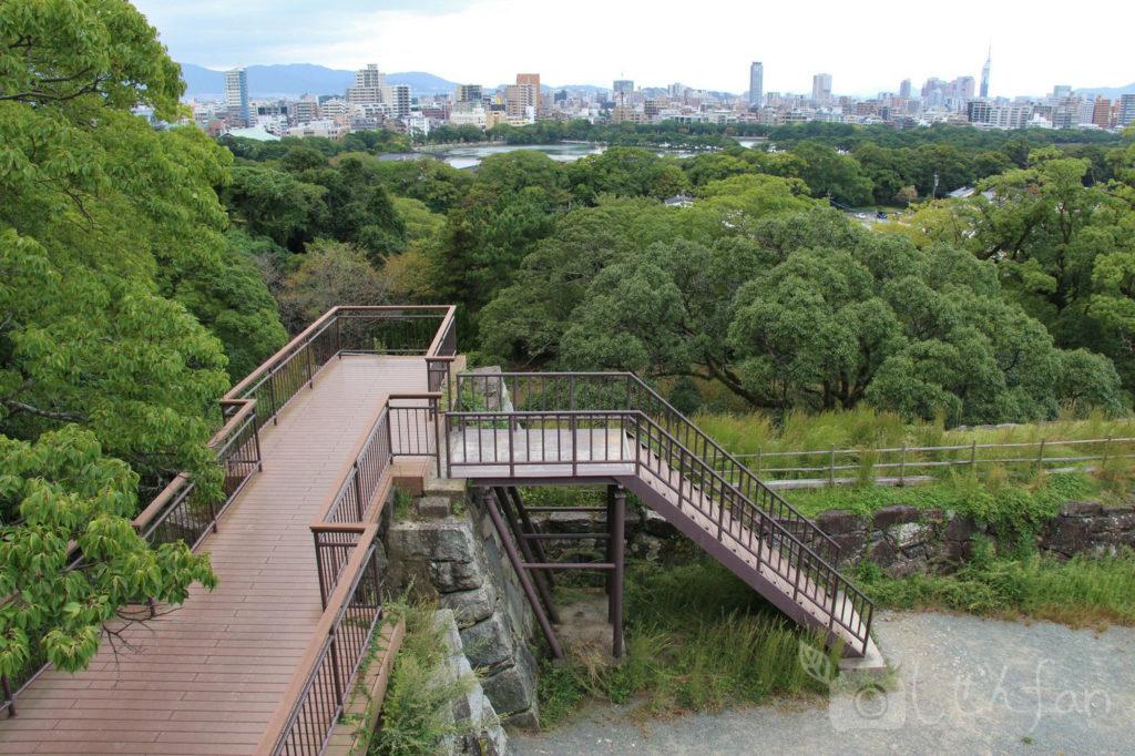 福岡城址 天守台跡からの眺め