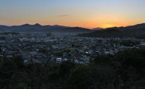 佐賀県小城市 夕暮れの小城(千葉公園展望台より)