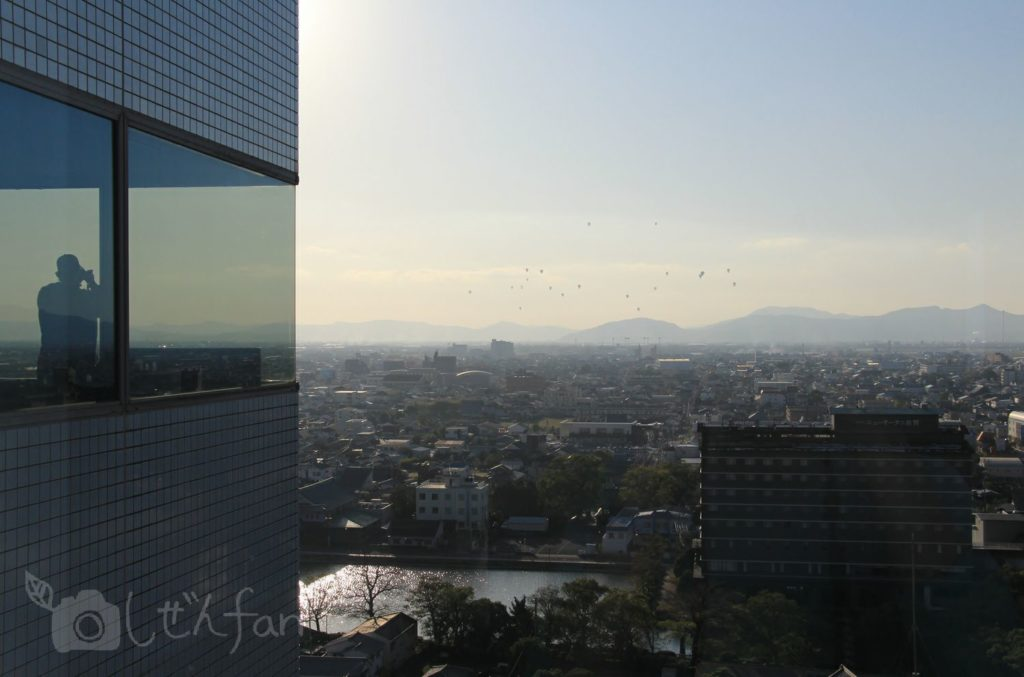佐賀県庁展望ホールからの眺め