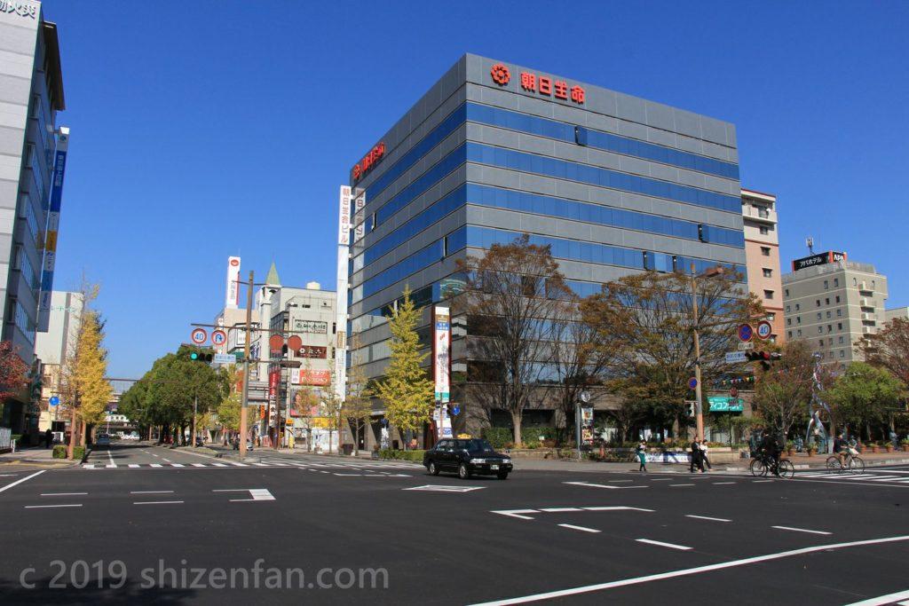 佐賀駅前交番西交差点の様子