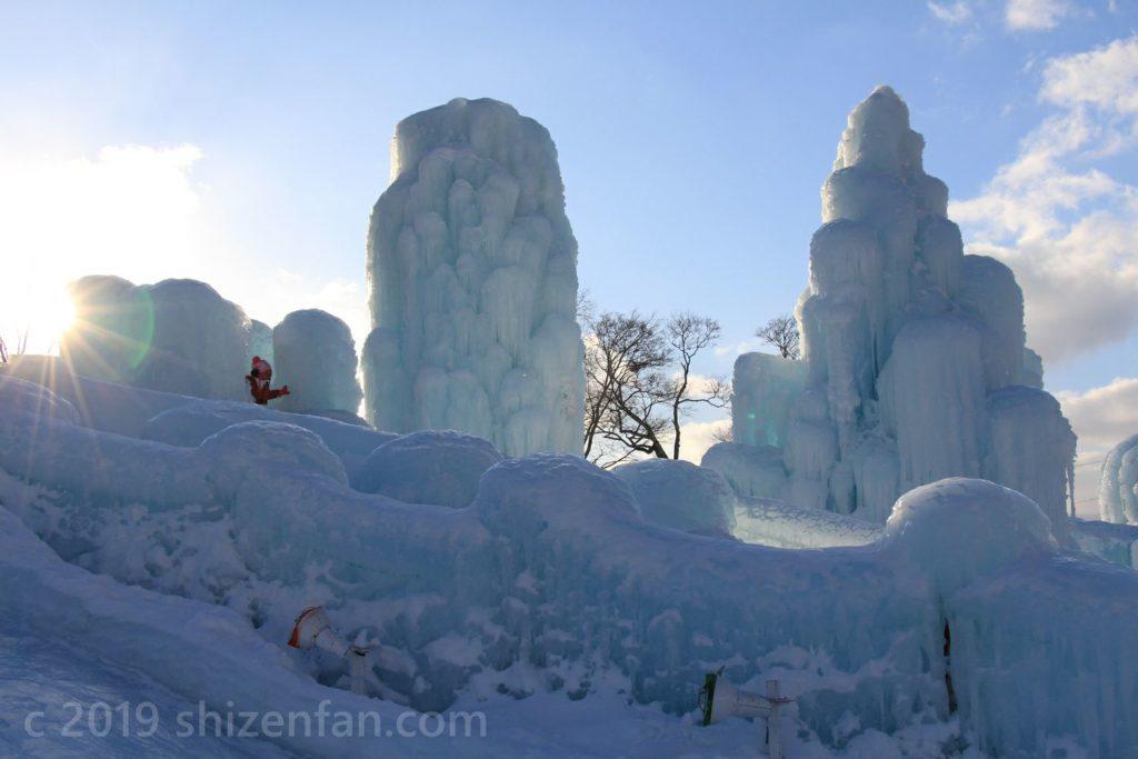支笏湖氷濤まつり・アイススライダー