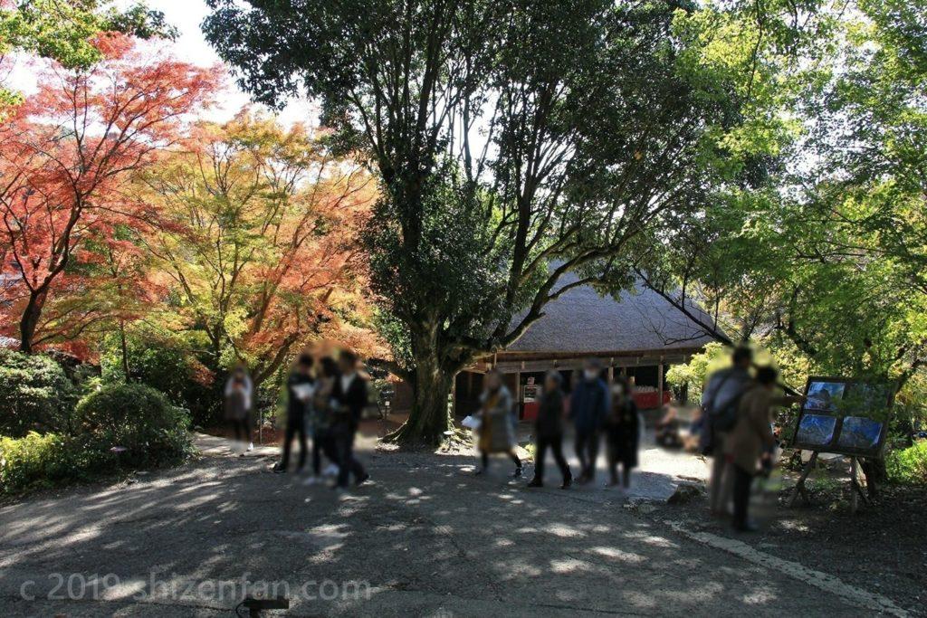 武雄・御船山楽園の園内売店付近