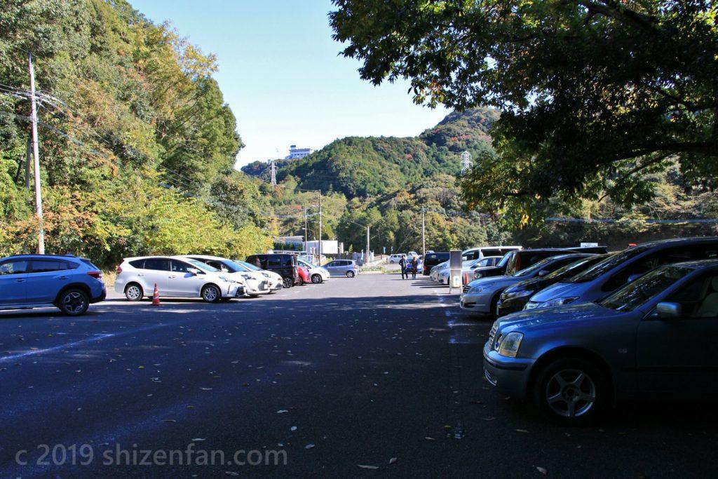 武雄・御船山楽園の第二駐車場