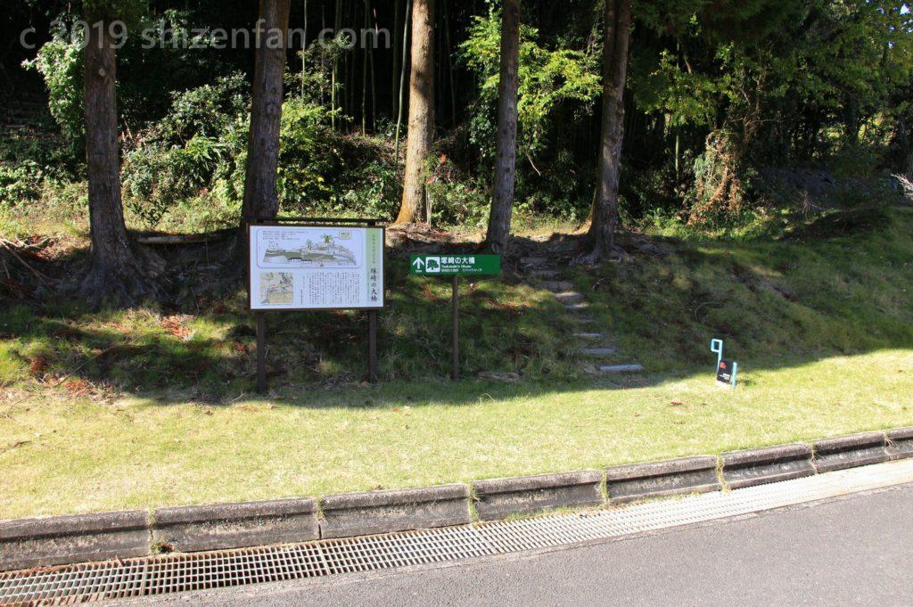 塚崎の大楠への登り口