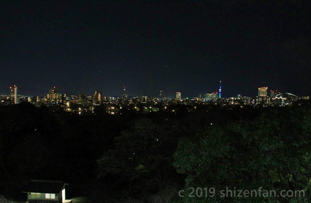 福岡城址天守台からの夜景