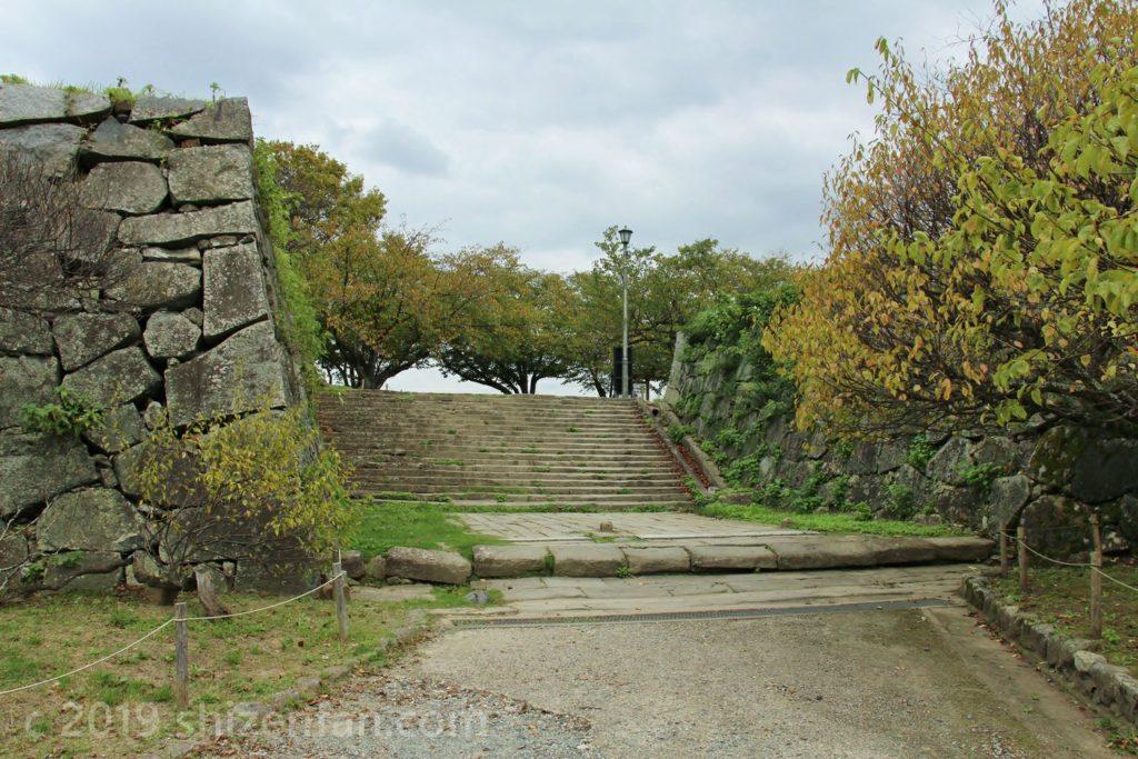福岡城址表御門付近の様子