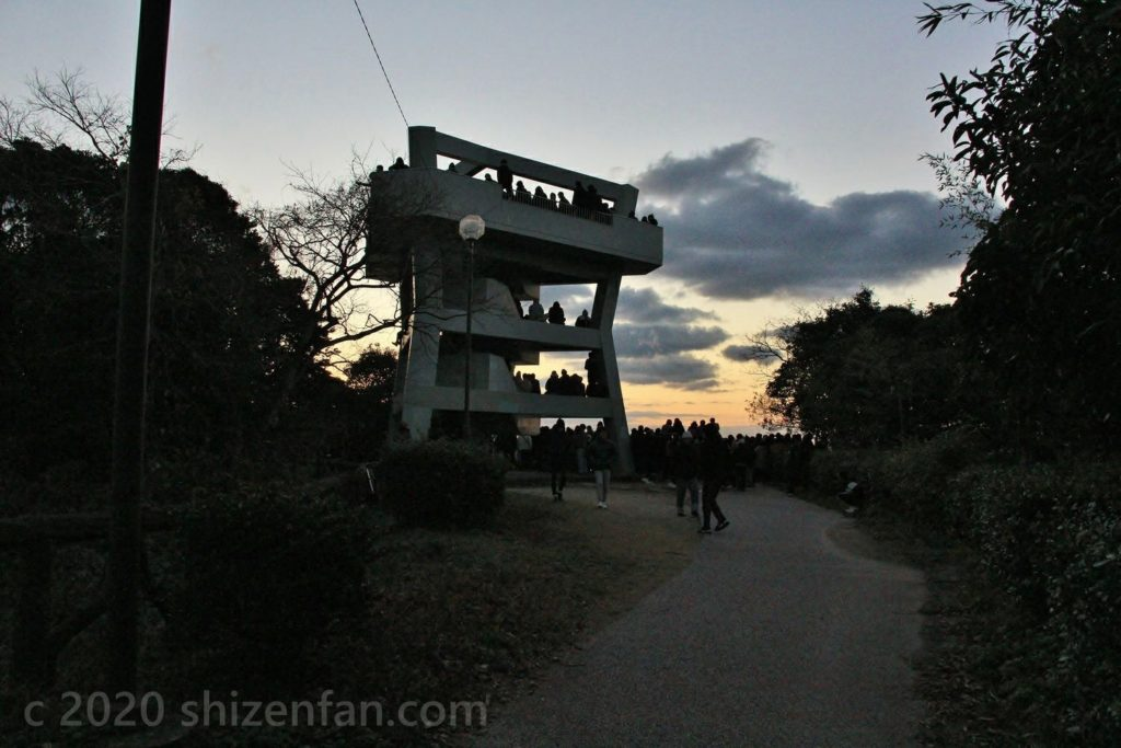 元旦朝の志賀島潮見公園展望台