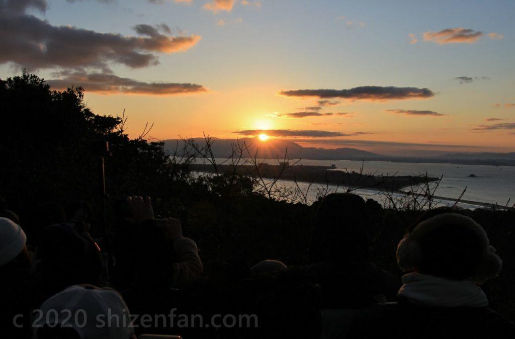 志賀島潮見公園からの初日の出