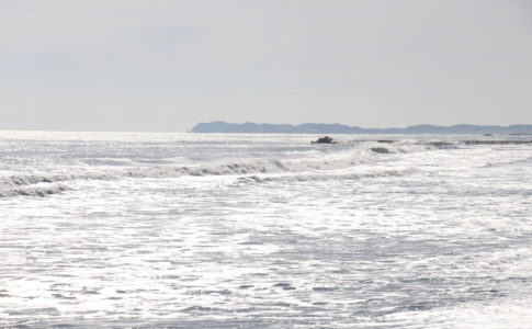 房総半島・九十九里浜(一松海岸)から望む太東岬