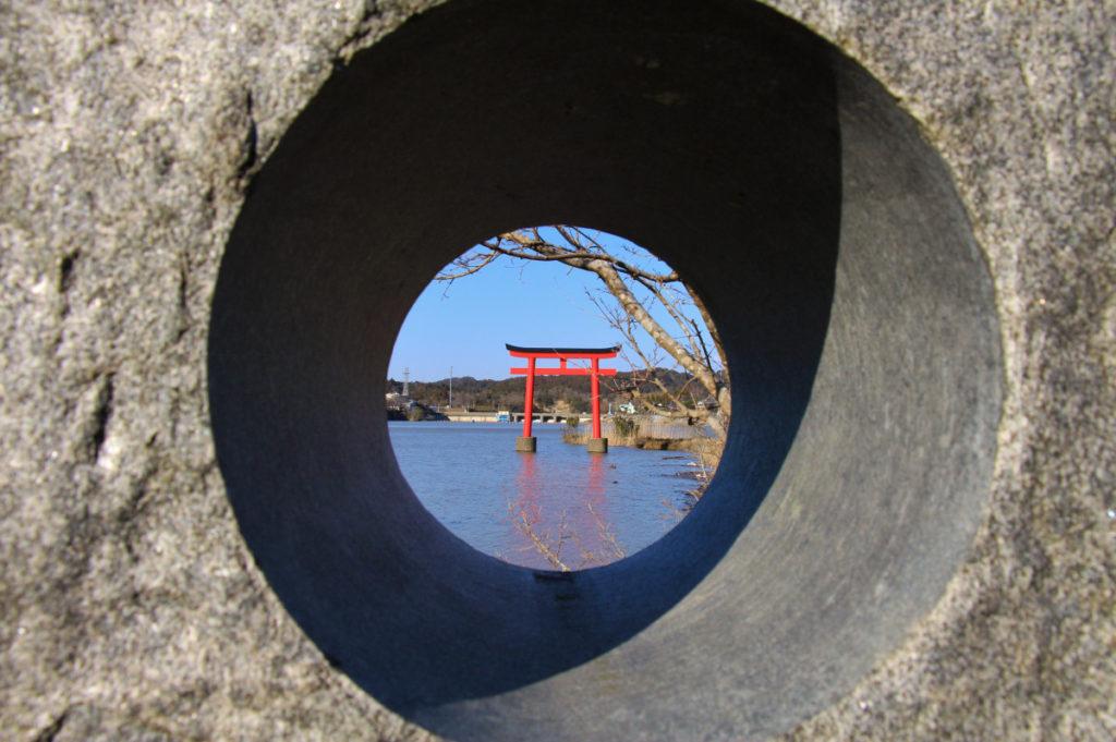 亀山水天宮の鳥居