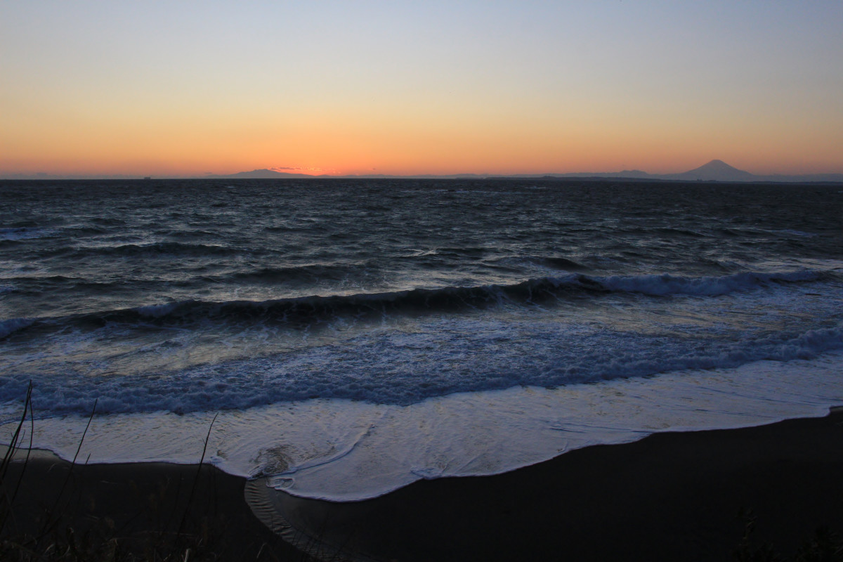 房総半島東海岸の夕暮れ