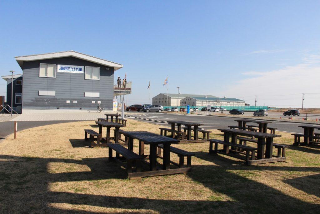 海の駅九十九里の芝生広場&ベンチセット