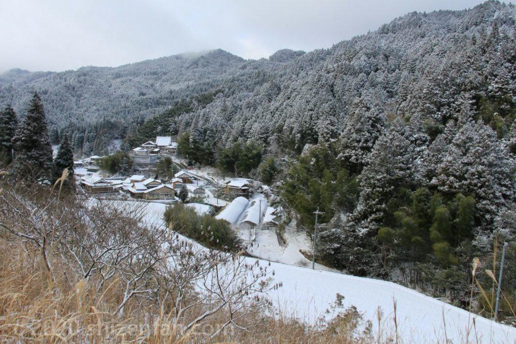 東峰村の雪景色