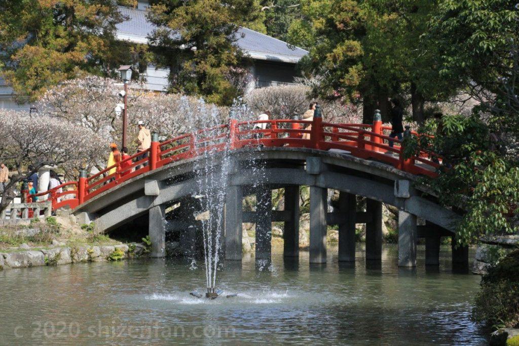 太宰府天満宮・太鼓橋と噴水
