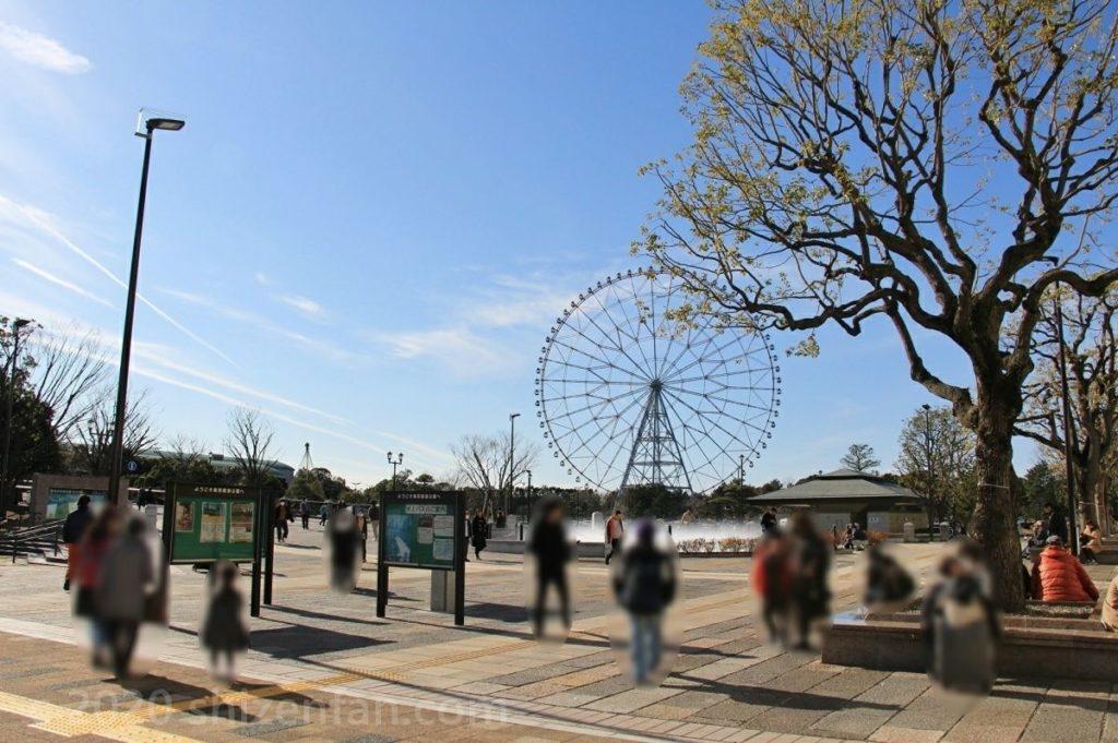 葛西臨海公園・噴水広場の様子