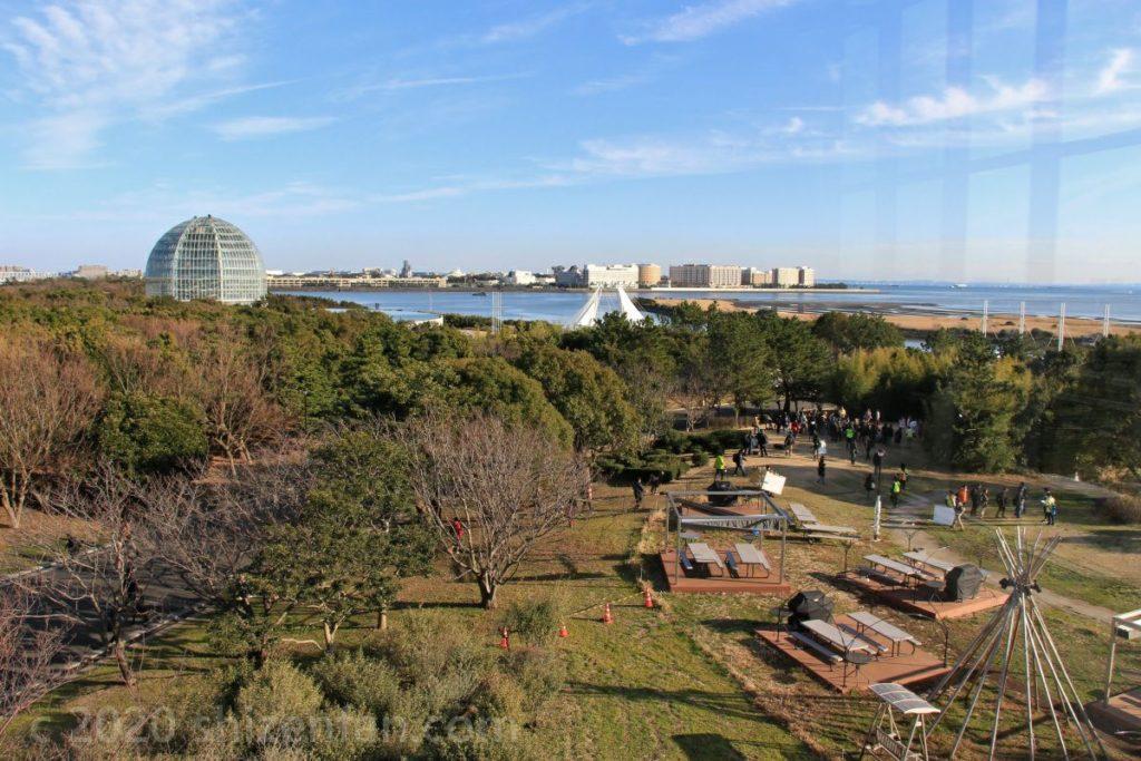 葛西臨海公園クリスタルビューからの眺望