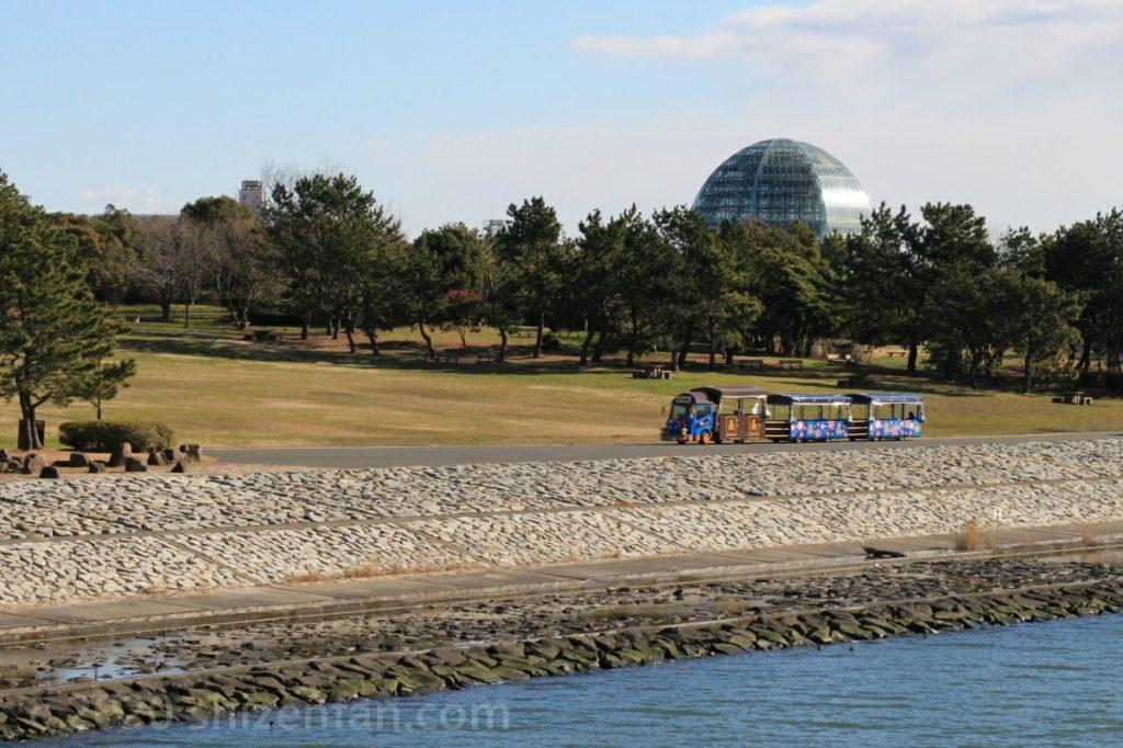 葛西臨海公園の展望広場とパークトレイン