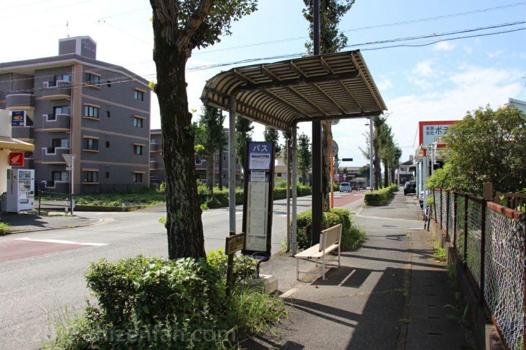 蓮台寺バス停の様子(熊本市)