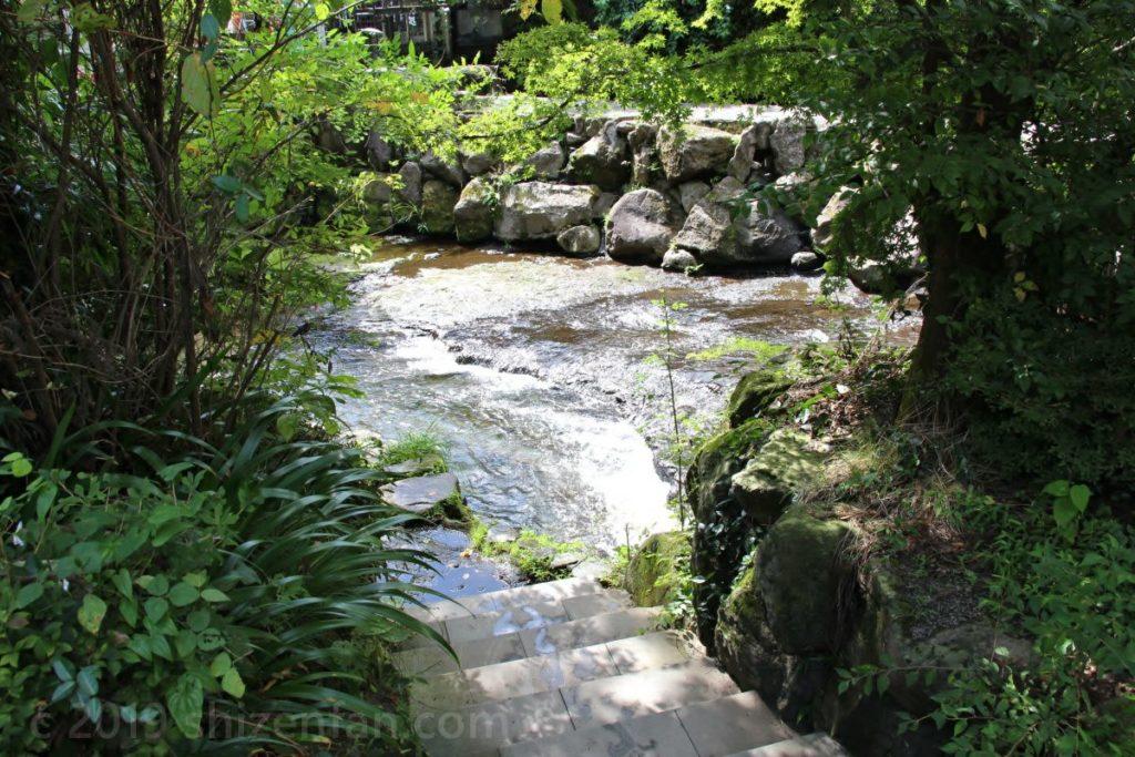 白川水源内の川遊び場