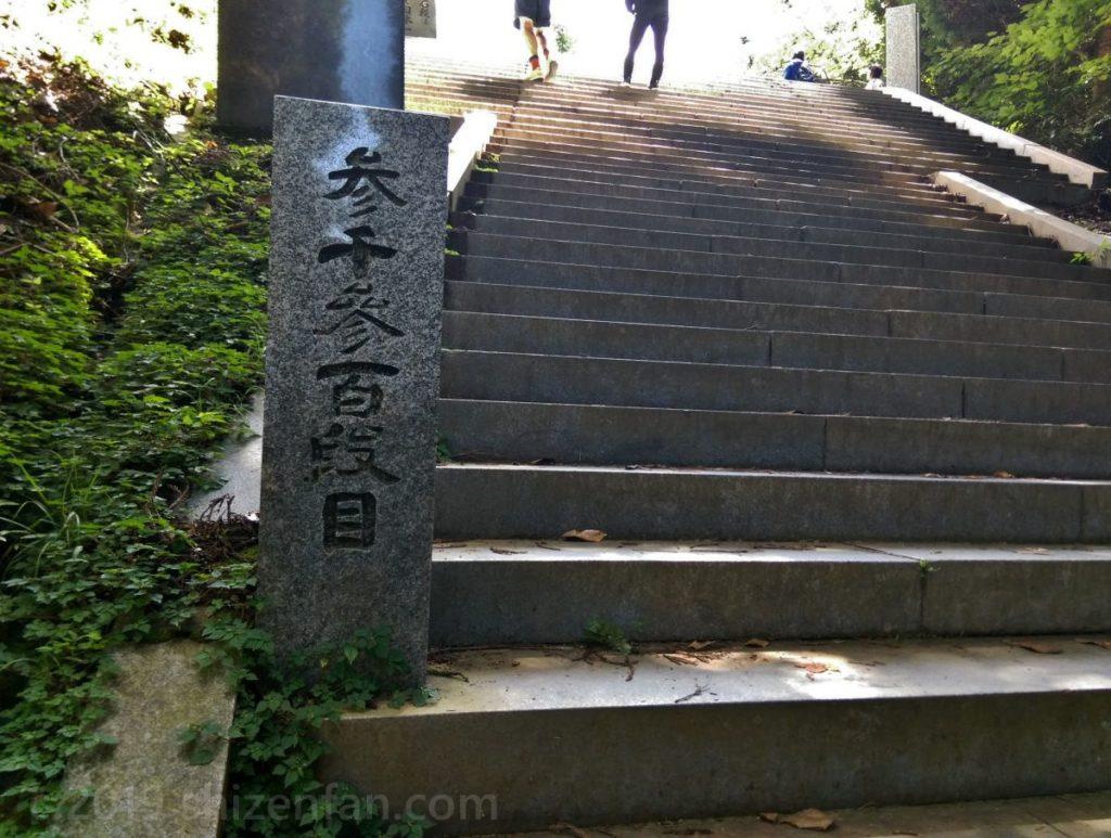 日本一の石段(釈迦院御坂遊歩道)3300段目付近