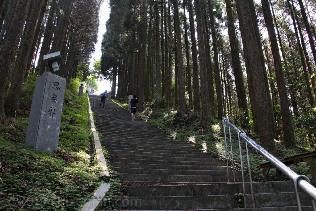 日本一の石段(釈迦院御坂遊歩道)頂上付近の石段