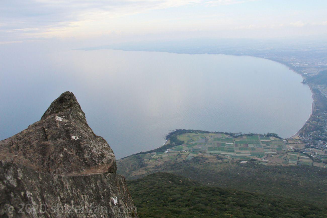 開聞岳9合目付近からの眺め