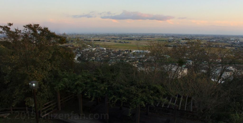 佐賀県小城市 千葉公園展望台から眺める夕景