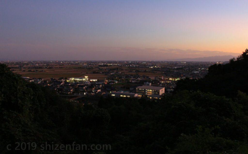 小城・千葉公園駐車場付近からの眺望(南側)