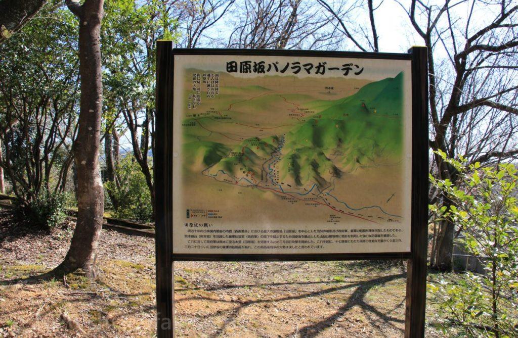 田原坂パノラマガーデンの案内看板