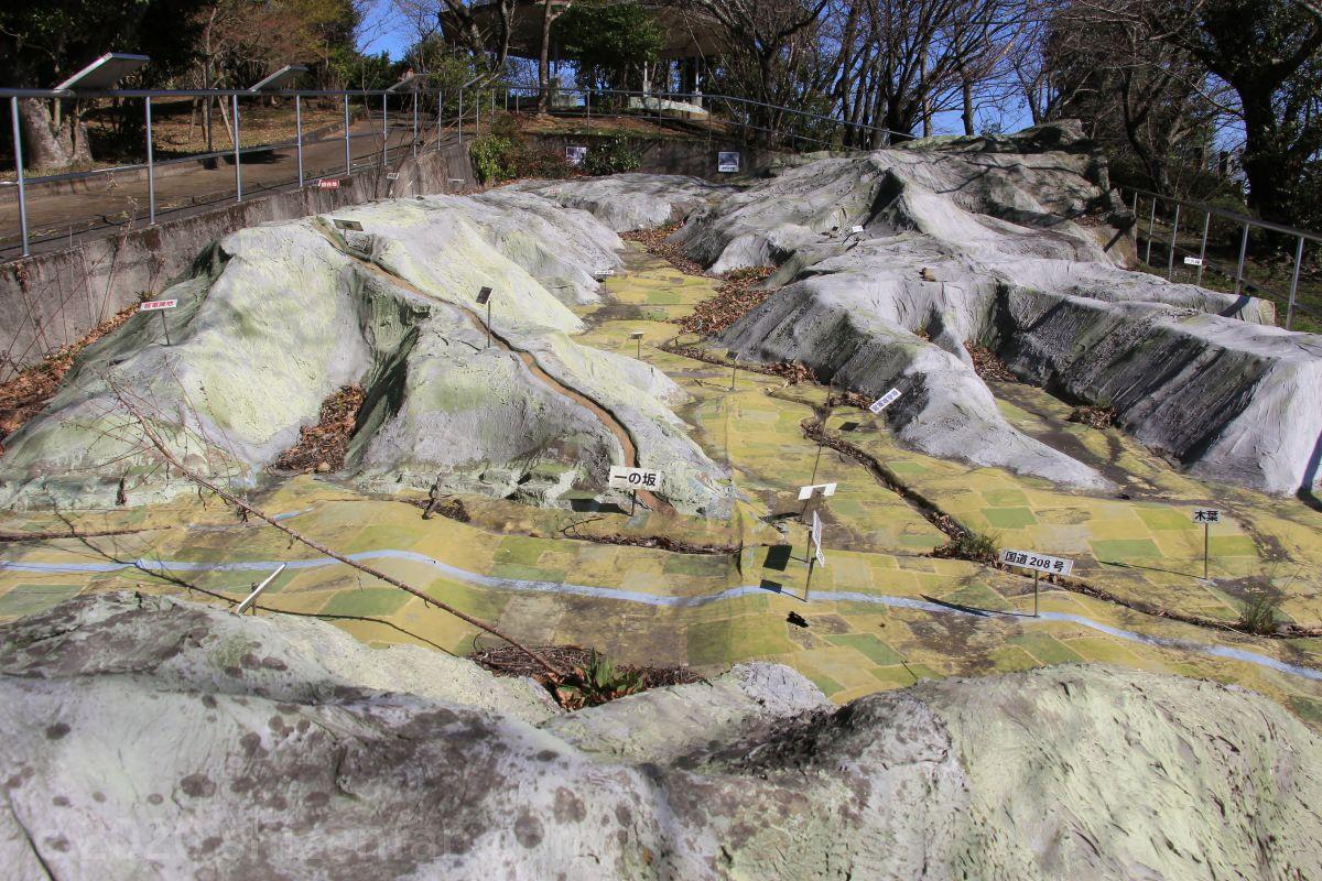 田原坂パノラマガーデン(一の坂側から見た様子)