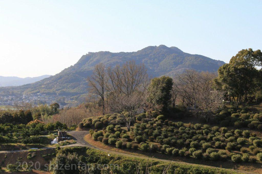 田原坂公園から眺める木葉山