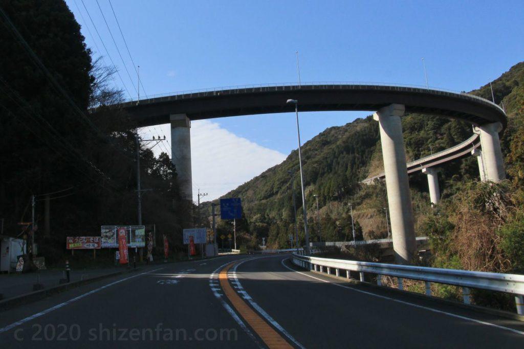 三瀬峠 有料道路との分かれ道付近