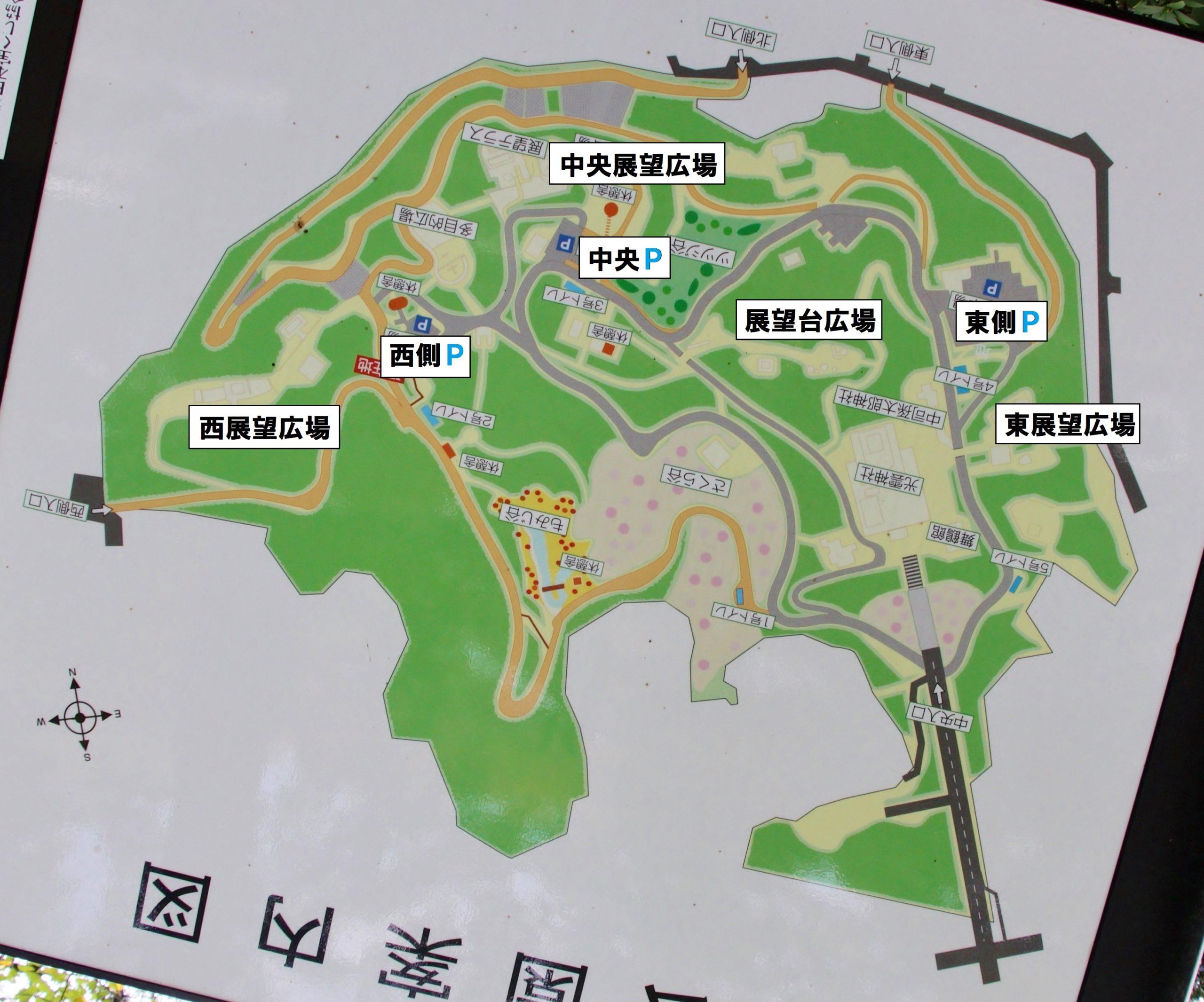 福岡西公園の園内マップ